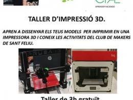 Taller d`impressió 3D, a Sant Feliu de Llobregat