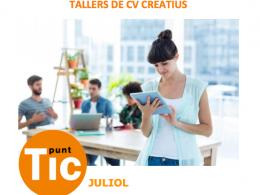 Part del cartell dels tallers de CV creatius, a l`IMO Lleida