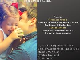 Cartell per difondre la xerrada sobre sexualitat i educació a l`Òmnia de la Seu d`Urgell