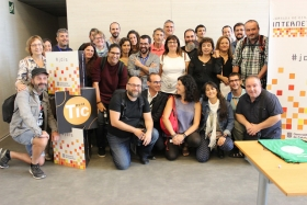Foto de grup dels dinamitzadors/ores que van participar en la JdIS 2017