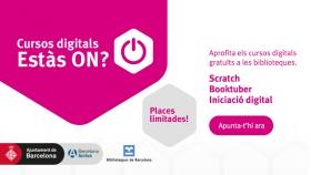 """Cursos digitals """"Estàs ON?"""" a les Biblioteques de Barcelona"""