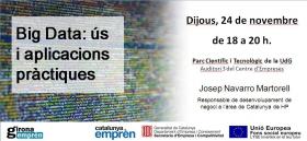 Xerrada sobre Big Data, dins el cicle de noves tendències i empresa de Girona Emprèn