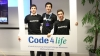 Photo og the three students from La Salle-URL that won the international Code4life competition