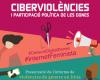 Part del cartell de difusió de la jornada 'Ciberviolències i participació política de les dones'