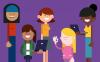 Il·lustració amb noies i tecnologia