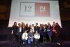 Foto de grup de les guardonades en el 12x12 Premi Dona TIC 2018