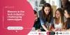 Cartell en anglès del diàleg 'Dones en la indústria tecnològica: Capgirant estereotips'
