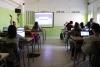 Classe amb ordinadors a l'INS Torre del Palau