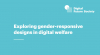 Informe 'Explorant dissenys sensibles al gènere en el benestar digital' de Digital Future Society