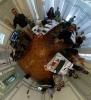 Fotografia realitzada amb els/les participants del taller que va impartir Isidro Navarro a Punt TIC i Presó