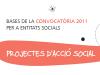 Convocatòria 2011 per a projectes d'acció social
