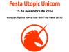 Part del cartell de la festa de llançament de Ubuntu Utopic Unicorn
