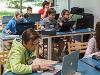 Nens programant amb Scratch. Foto per: Coderdojo Brianza. Font: Flickr.