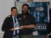 Rodrigo Zardoya, director de la Fundación Dédalo rep el premi Heroi digital institucional
