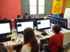 Infants i joves participant en Moonhack 2018 a l'Òmnia de Torrelles de Llobregat