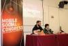 Laia Fargas Fursa i Jofre Güell durant la presentació del Mobile Social Congress 2019