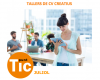 Parte del cartel de los talleres de CV creativos, en el IMO Lleida