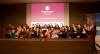 Foto de grup de les participants de l'esdeveniment de llançament de Technovation 2019 a Barcelona